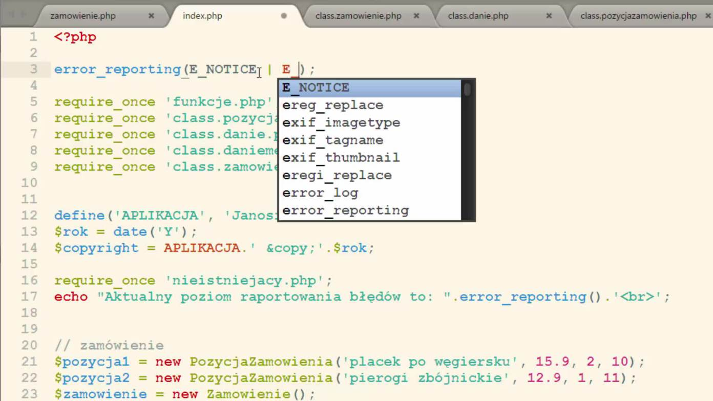 Kurs PHP i MySQL